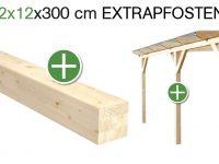 12 x 12 x 300 cm Extrapfosten / Zusatzpfosten für solidBASIC