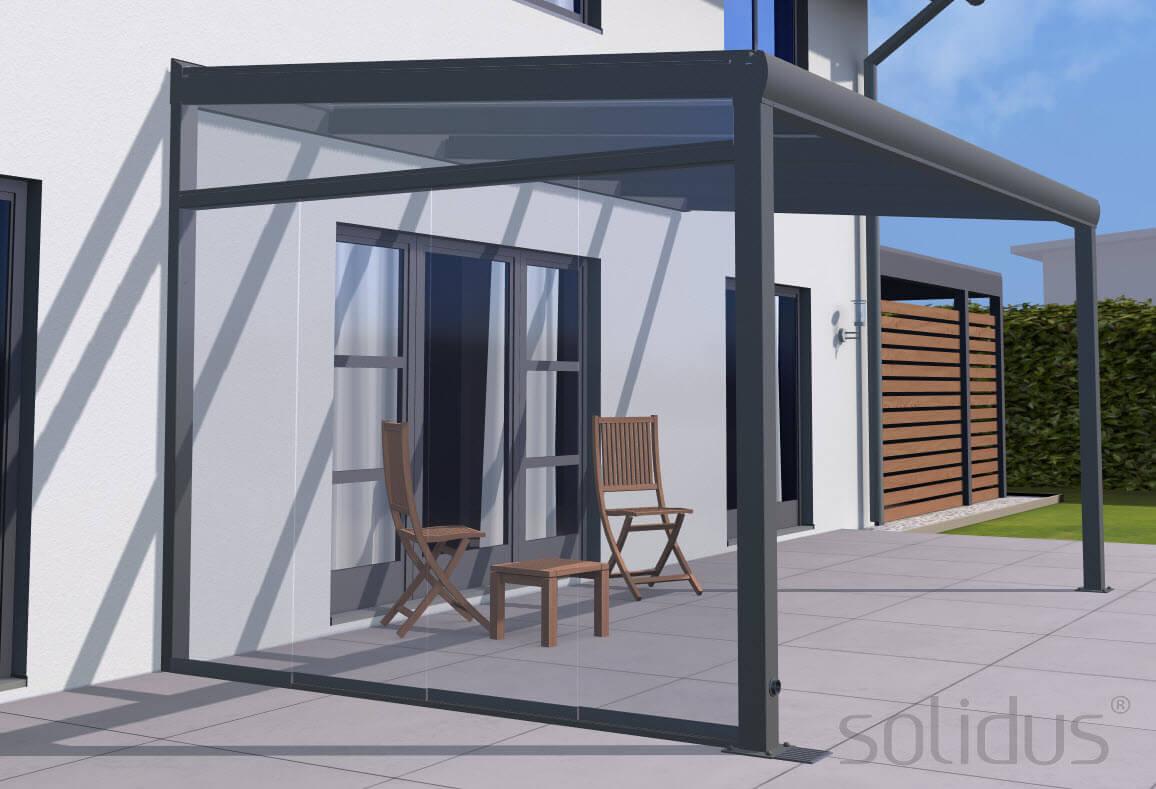 Seitenkeil + solidSLIDE Glas Schiebewand System inkl. 20mm ESG/Glas ...