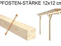 Pfostenstärke 12 x 12 cm statt 10 x 10 cm für solidBASIC