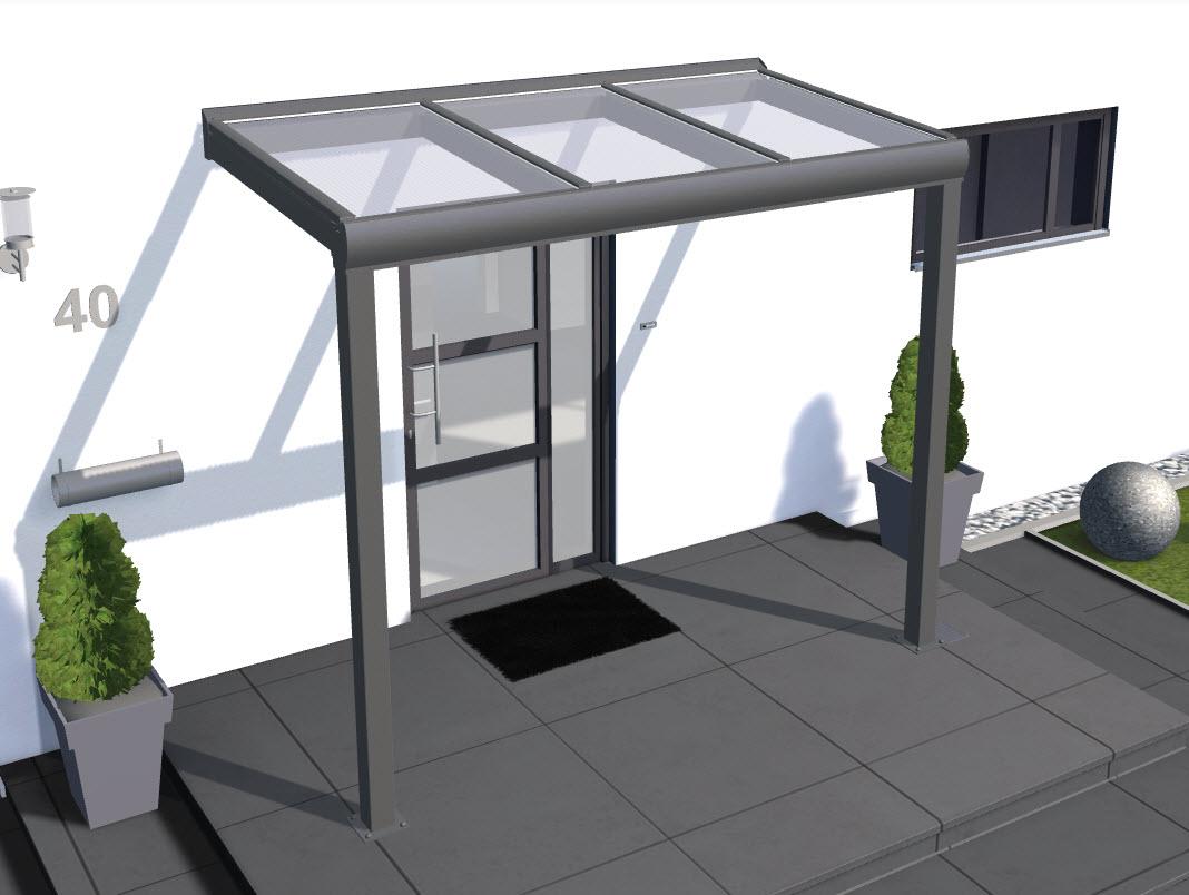 Fabulous solidSMART Aluminium Haustür-Vordach mit 16mm Stegplatten – solidus® KV98