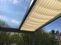 Peddy-Shield Beschattungssystem für alle Alu und Holz Terrassendächer