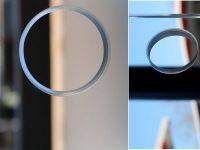 solidSLIDE Lochbohrung in ESG für Glasschiebewände, 51mm Durchmesser
