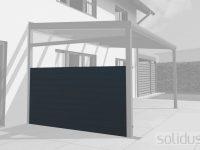 solidCOVER Alu-Seitenwand für alle Dächer - Bausatz 2-b