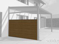 solidWOOD Terrassendach-Seitenwand aus Holz - Bausatz 2-c
