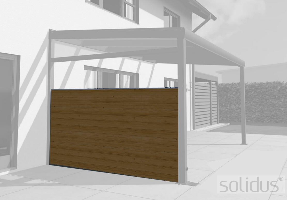 Solidwood Terrassendach Seitenwand Aus Holz Bausatz 2 C Solidus