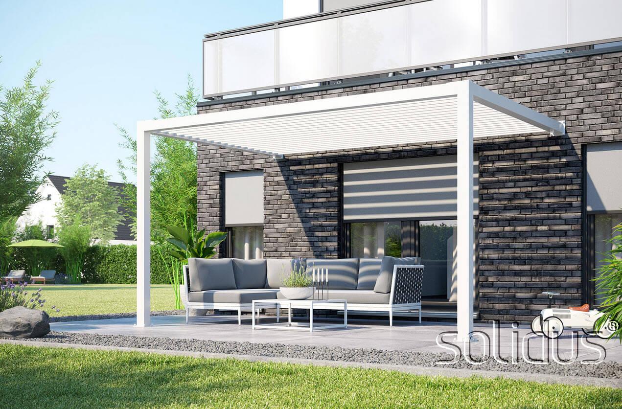 solidCUBE Pergola / Pavillon aus pulverbeschichtetem Aluminium ...