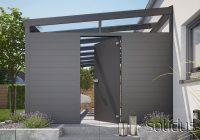 solidDOOR Tür-System aus Glas oder TRESPA - für alle Alu Überdachungen geeignet