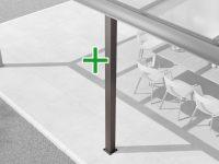 Aluminium Zusatz-Pfosten-Set für alle Alu-Überdachungen