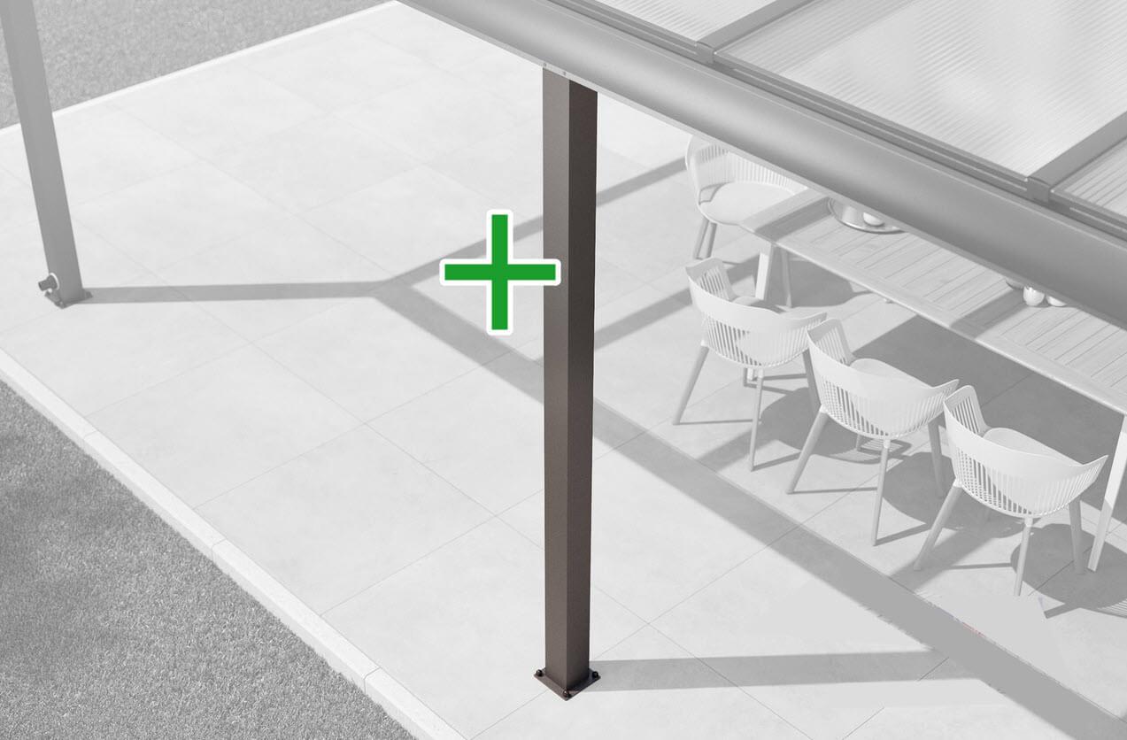 Zusatz-Pfosten-Set für alle Alu-Überdachungen